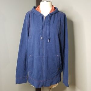Prana Hoodie Sweatshirt Jacket Blue L New